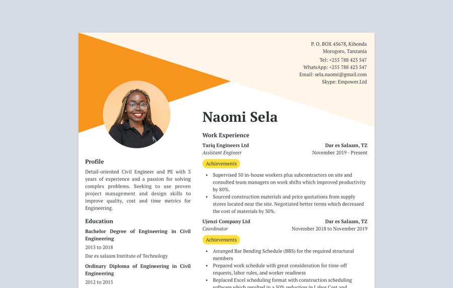 Achiever CV